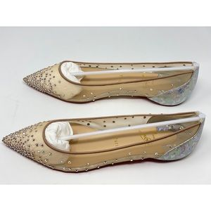 Christian Louboutin follies strass flat rete/calf